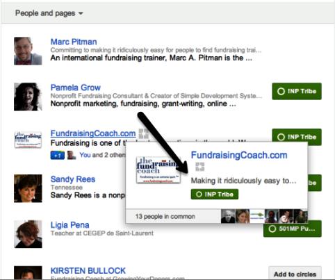 Google Plus Schwebekarte
