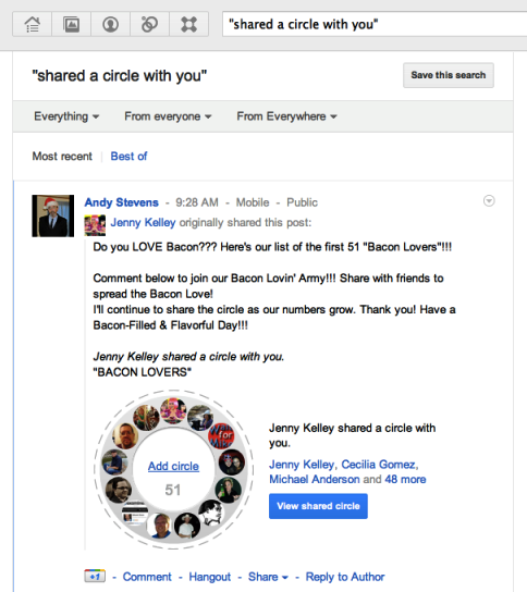 google+ getting started 5 shared circles