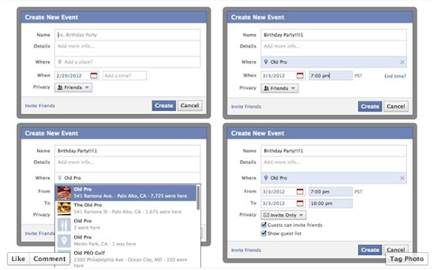 how to create a location on facebook