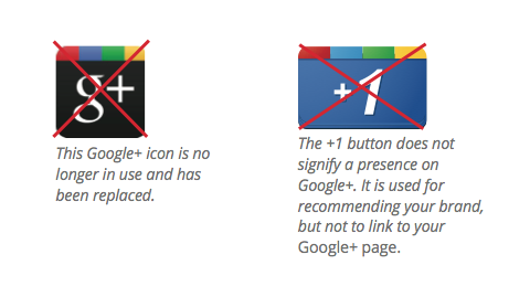 google+ icon recommendations