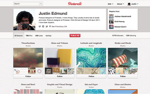 new pinterest profile