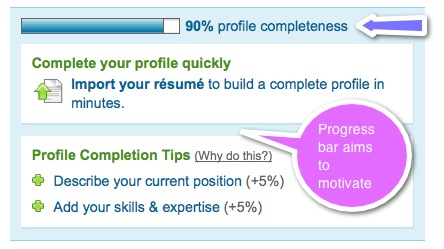 linkedin progress bar