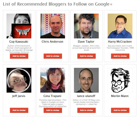 recommended users