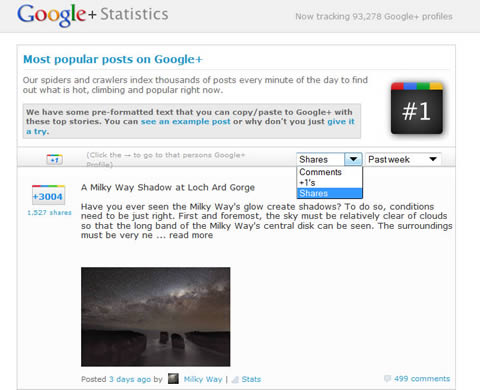 social stats top posts