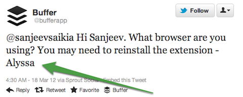 tweet with name