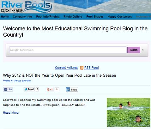 Fluss Pool Blog