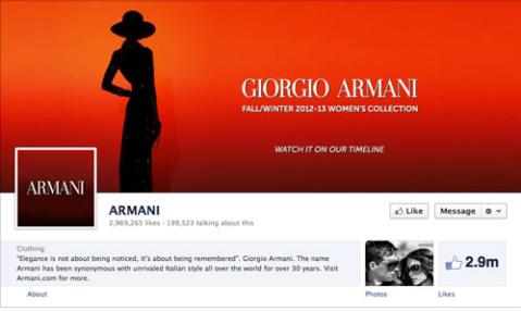armani page