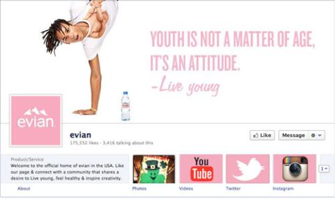evian page