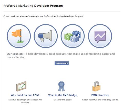 facebook preferred marketing developer program