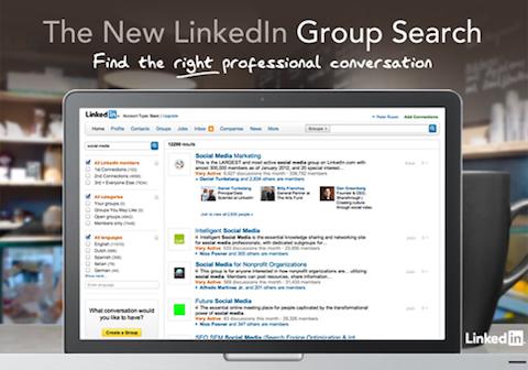 neue LinkedIn-Gruppensuche