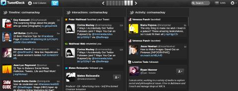 tweetdeckk column buttons