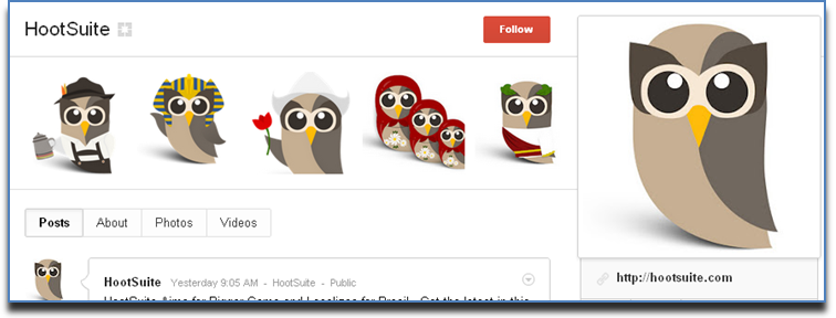 hootsuite page