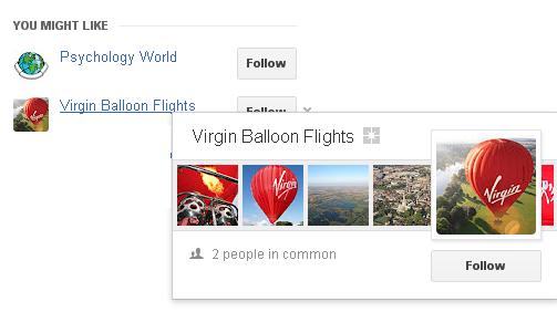 page header profile display