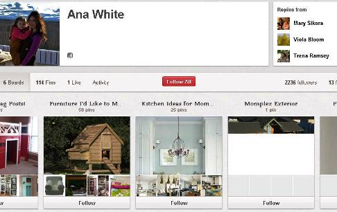 ana white pinterest page