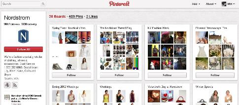 nordstrom pinterest profile