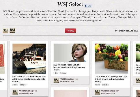 wsj offers board