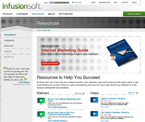 infusion soft resource center
