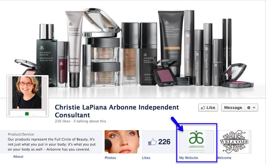 Facebook-Seite E-Commerce-Portal