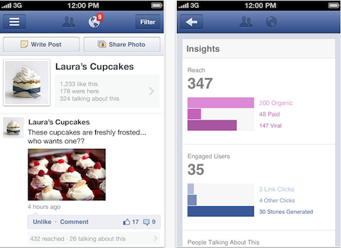 facebook pages manager app for iphone