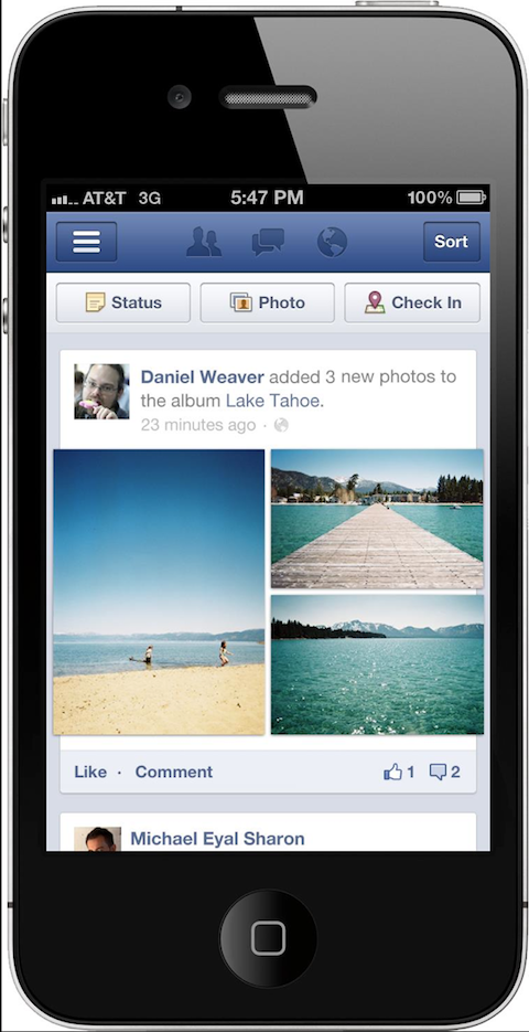 facebook photo shares on mobile