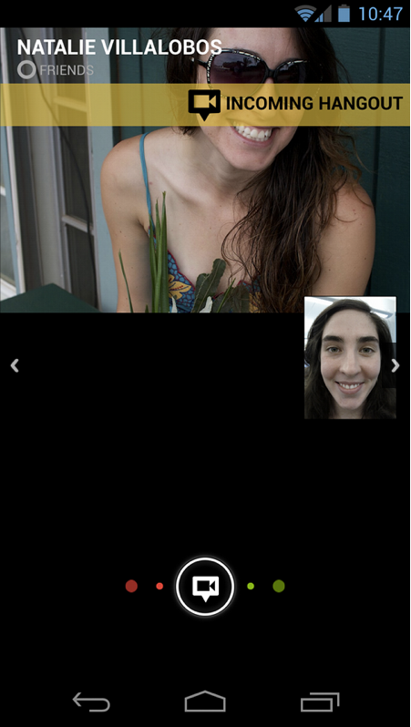 google+ android app hangout