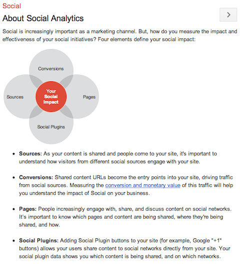 google analytics social reports
