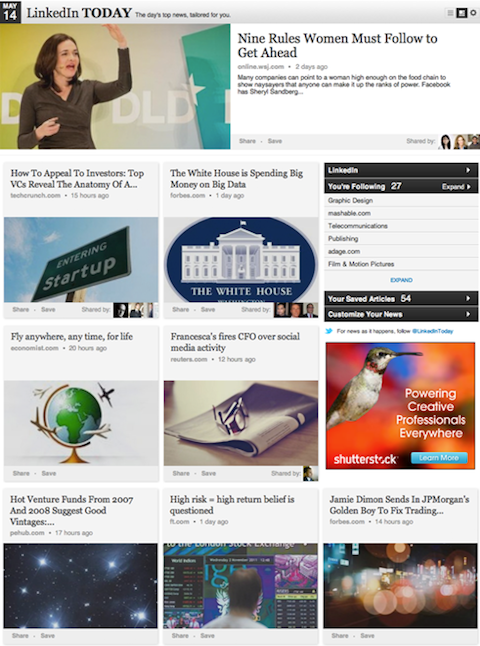 linkedin today redesign