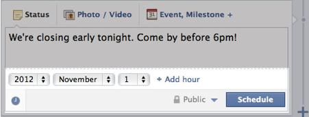 Facebook-Post planen