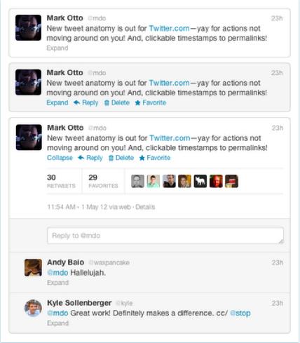 tweet redesign