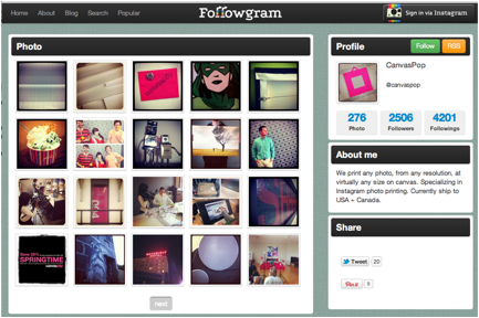 canvas pop instagram