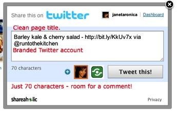 good twitter social share