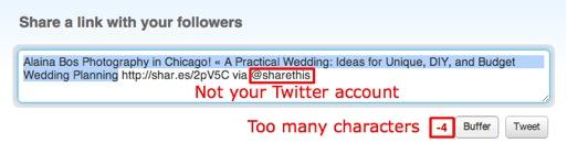 twitter social share