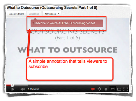 how to make subscribe annotation