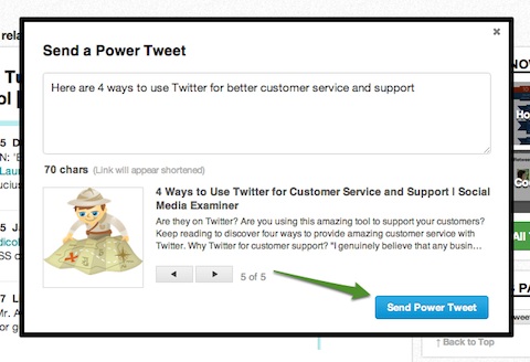 el poder Tweet