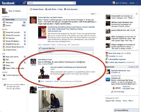 re teilen auf fb persönliches Profil