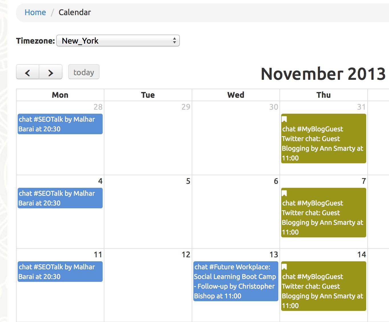 chat calendar