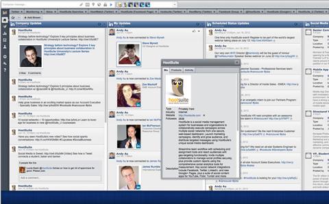 hootsuite linkedin company page integration