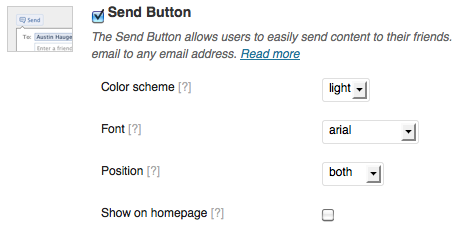 display send button
