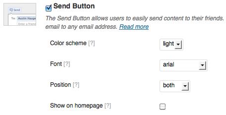 display send button