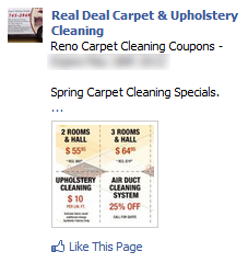carpet cleaning ad