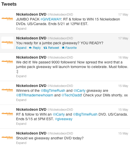 nickelodeon giveaway