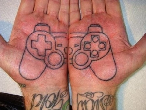 playstation tattoo