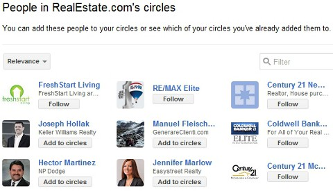 real estate google plus