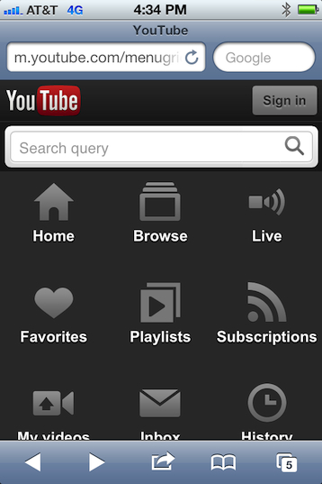 youtube mobile