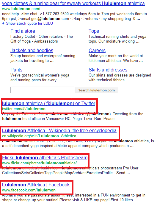 lululemon search
