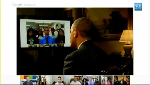 president obama hangout
