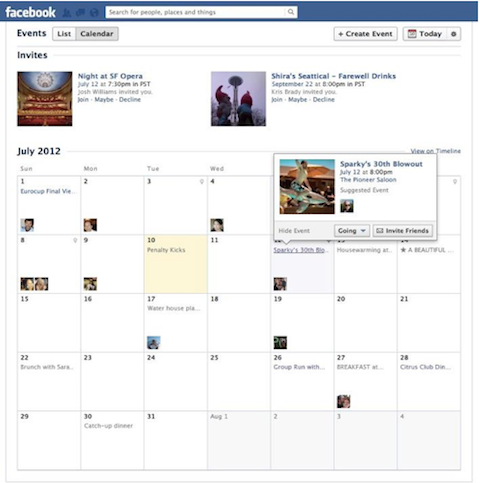 facebook events calendar view