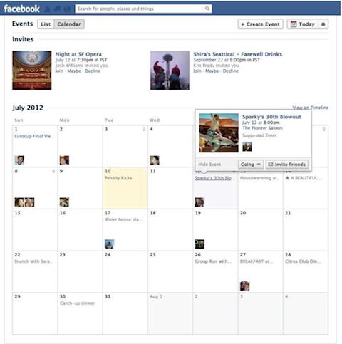 facebook events calendar view