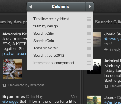 tweetdeck column