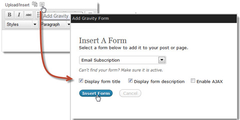 gravity-form-insert-on-page